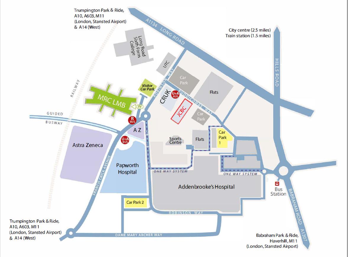 Cambridge Biomedical Campus map
