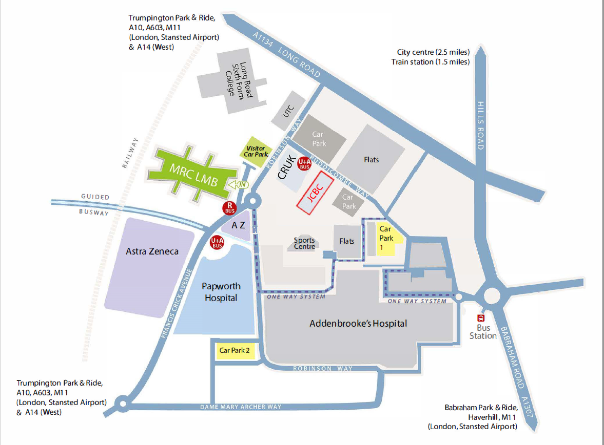 Cambridge Biomedical Campus map
